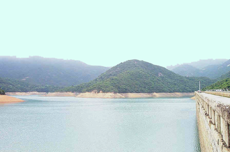 Tai Tam Reservoirs - photograph taken from the main dam