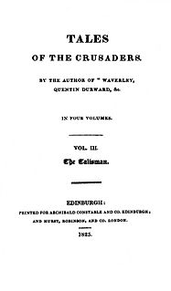 <i>The Talisman</i> (Scott novel) novel by Walter Scott
