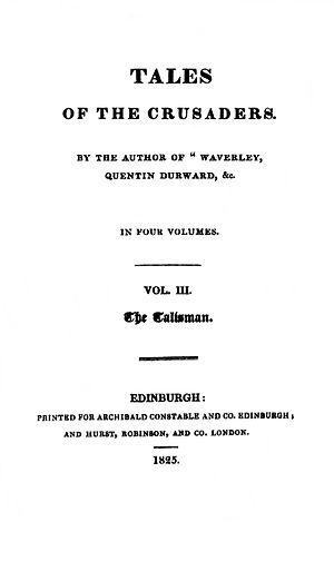 The Talisman (Scott novel) - First edition title page.
