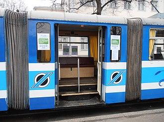 Free public transport - Image: Tallinna Tramm Wahllokal