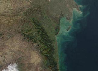 Satellitenbild des Talysh-Gebirges