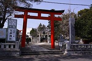 Ichinomiya, Chiba - Tamasaki Jinja torii gate