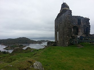 Kintyre - The remains of Tarbert castle