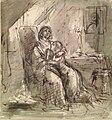 Tassaert O. attr. - Wash and pencil - Une famille malheureuse - 14,8x15,8cm.jpg