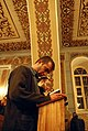 Tbilisi synagogue, Hanukkah - prayer 03.jpg