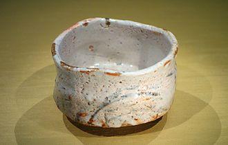 Shino ware - Shino ware tea bowl furisode, Azuchi-Momoyama to Edo period, 16th-17th century