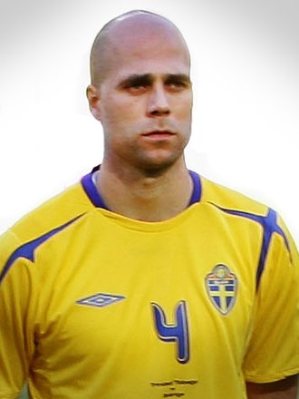Teddy Lučić - Lučić lining up for Sweden in 2006