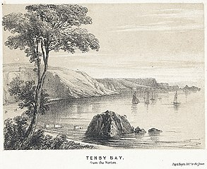 Tenby Bay: from the Norton