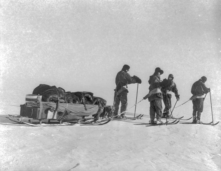 File:Terra Nova expedition at the South Pole - LOC 3a18826u.jpg