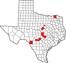 Texas Acrocanthosaurus tracksites.png