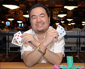 Thang Luu - Luu after winning the $1,500 Omaha Hi-Low Split-8 or Better event at the 2008 World Series of Poker
