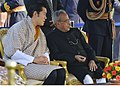 The Chief Guest of Republic Day, the King of Bhutan, His Majesty Jigme Khesar Namgyel Wangchuck with the President, Shri Pranab Mukherjee during the 'At Home` reception, hosted by the President.jpg