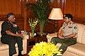 The Commandant NDC, Bangladesh, Lt. Gen. Mollah Fazle Akbar, called on the Chief of Army Staff, Gen. V. K. Singh, in New Delhi on September 27, 2011.jpg
