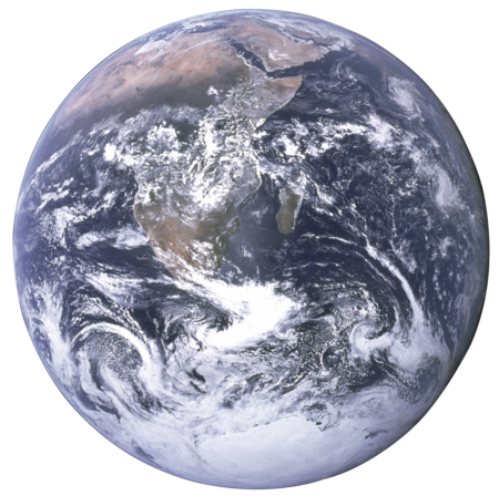 The Earth seen from Apollo 17 with transparent background.png