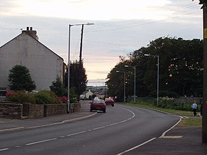 Crosby-on-Eden - Image: The Isle of Man visible from Crosby on the A596 geograph.org.uk 97851