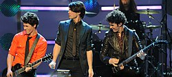 The Jonas Brothers perform at the Kids' Inaugural cropped.jpg
