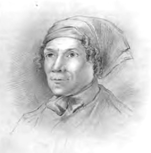 Catherine Blake - Pencil drawing by George Richmond after Tatham's life sketch of Catherine Blake