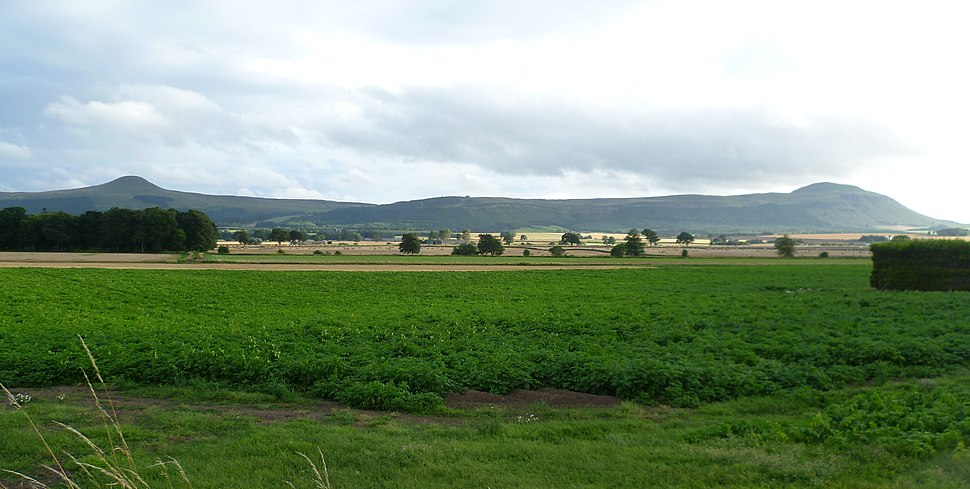 The Lomond Hills seen from Auchtermuchty, Howe of Fife