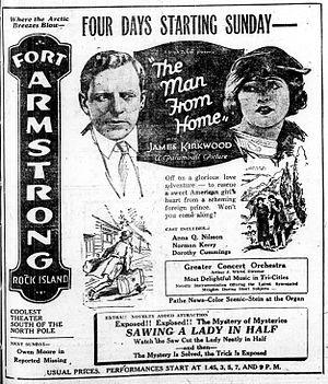 The Man from Home (1922 film) - Newspaper advertisement.