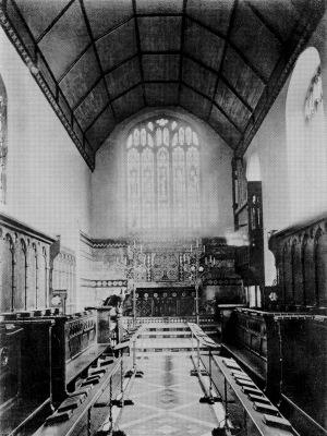 Queens' College, Cambridge - The Old Chapel in 1872