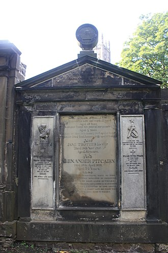 William Fettes Pitcairn - The Pitcairn grave, St Cuthberts Churchyard, Edinburgh