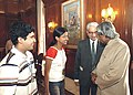 The President Dr. APJ Abdul Kalam met the Olympiad Medialists-2004 at Rashtrapathi Bhawan on August 15,2004.jpg