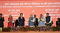 The Prime Minister, Shri Narendra Modi and the Prime Minister of Japan, Mr. Shinzo Abe at Ground Breaking ceremony of Mumbai-Ahmedabad High Speed Rail Project, at Ahmedabad, Gujarat (2).jpg