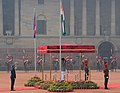 The Prime Minister of Nepal, Shri K.P. Sharma Oli being given the Guard of Honour, at the Ceremonial Reception, at Rashtrapati Bhavan, in New Delhi on February 20, 2016.jpg