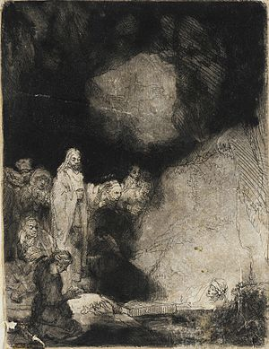The Raising of Lazarus (Rembrandt) - Image: The Raising of Lazarus LACMA 19.4.31