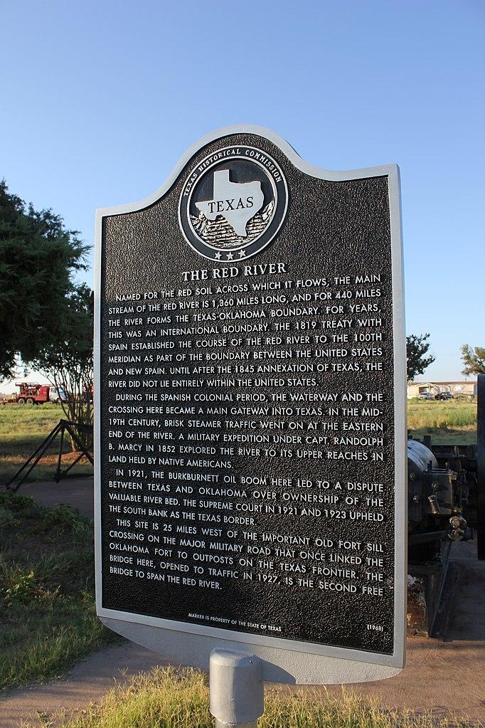 File:The Red River, Burkburnett, Texas Historical Marker ...
