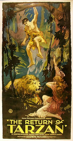 The Revenge of Tarzan - Poster with the original title