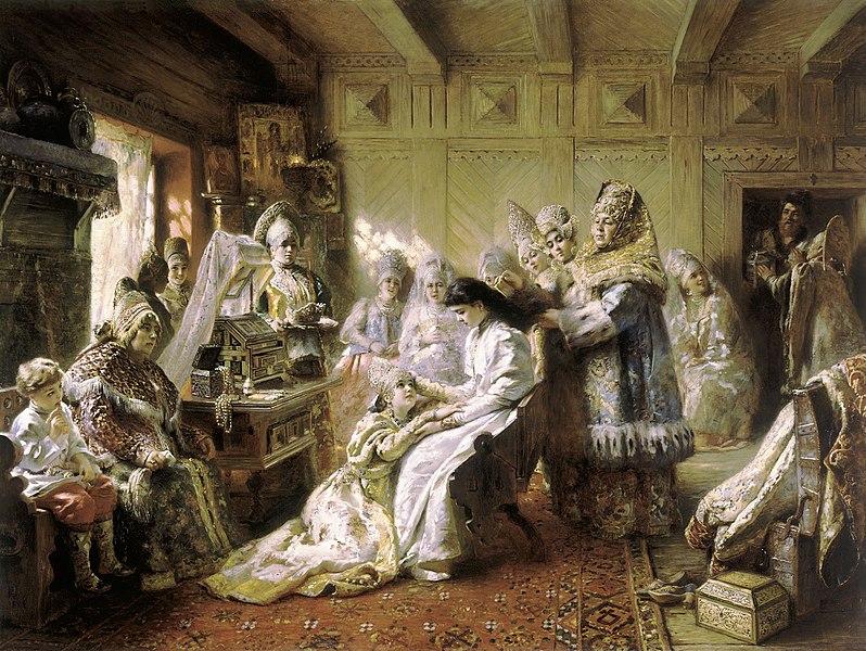 File:The Russian Bride's Attire - Konstantin Makovsky.jpg