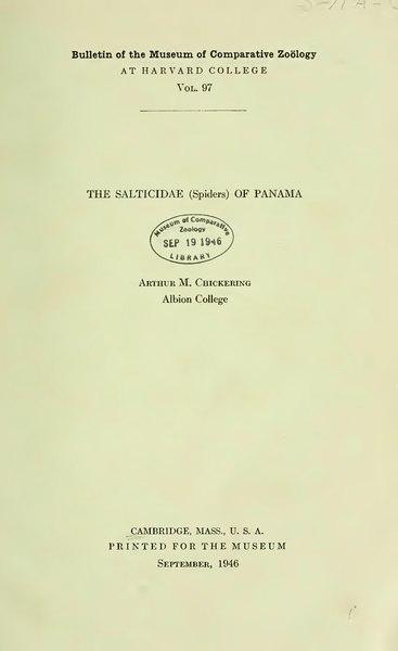 File:The Salticidae (Spiders) of Panama.djvu