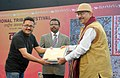 The Secretary Ministry of Tribal Affairs, Dr. H. Panda presented the prizes at the closing ceremony of the National Tribal Festival- 2015 VANAJ, in New Delhi on February 18, 2015.jpg