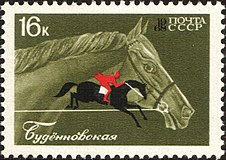 The Soviet Union 1968 CPA 3602 stamp (Budyonny Horse and Show Jumping).jpg