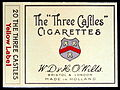 The Three Castles cigarettes package, photo 1.JPG