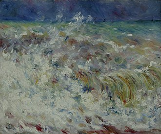 Seascape -  The Wave by Pierre-Auguste Renoir