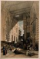 The bazaar of the silk merchants in Cairo with a man smoking Wellcome V0019279.jpg