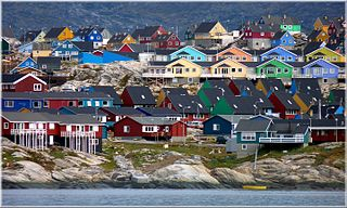 Ilulissat Place in Greenland, Kingdom of Denmark