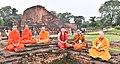 The delegates of the International Buddhist Conclave- 2018, at the ancient Nalanda University Ruins, in Nalanda, Bihar on August 25, 2018 (1).JPG