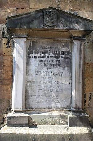 Adam Gillies, Lord Gillies - The grave of Adam Gillies, Greyfriars Kirkyard.