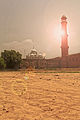 The mosque minar with a sikh temple.jpg