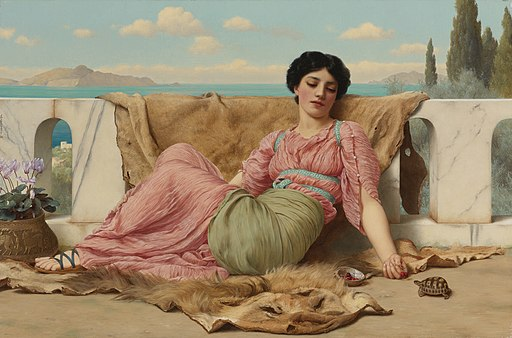 The quiet pet, by John William Godward