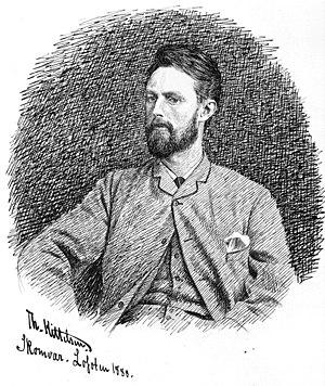 Theodor Kittelsen - Theodor Kittelsen selfportrait