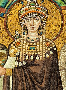 Mosaïque de Théodora - Basilique San Vitale (Ravenne) v2.jpg