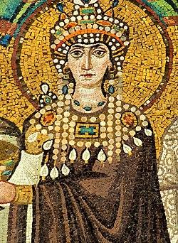 Theodora mosaic - Basilica San Vitale (Ravenna) v2.jpg