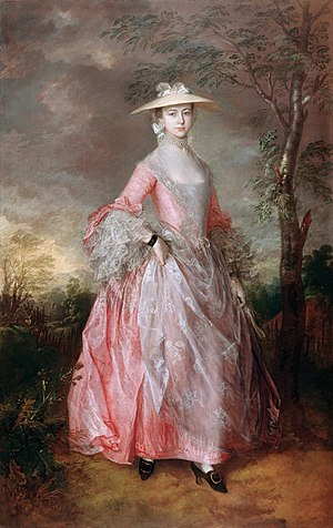 Richard Howe, 1st Earl Howe - Mary Countess Howe by Thomas Gainsborough