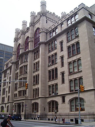 Hunter College - Thomas Hunter Hall was originally built in 1912–14 as a high school connected to Normal College (later Hunter College High School), and was designed by C. B. J. Snyder.  A large part of the building was razed to make way for the North Building, built in 1938-41