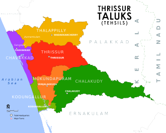 Administration of Thrissur district - Taluks in Thrissur District