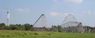 Mamba (roller coaster) - Image: Timber Wolf at Worlds of Fun